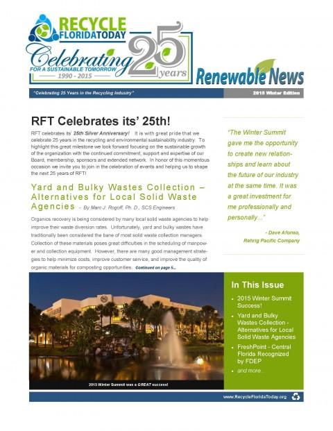 Renewable News – 2015 Winter Edition
