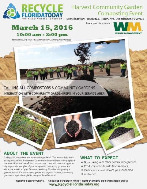 Harvest Community Garden Composting Event – Mar. 15th