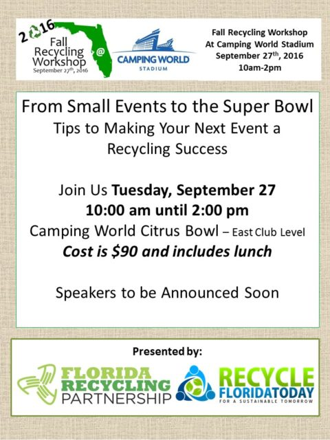 Fall Recycling Workshop